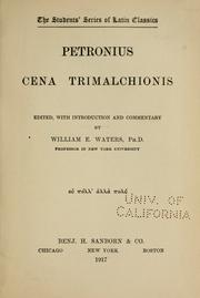 Cover of: Cena Trimalchionis | Petronius Arbiter