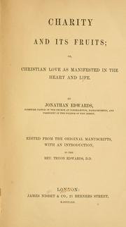 Cover of: Charity and its fruits