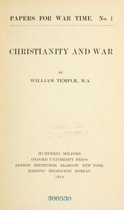 Cover of: Christianity and war
