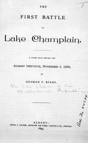 Cover of: The first battle of Lake Champlain |
