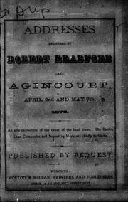 Addresses delivered at Agincourt, April 2nd and May 7th, 1878