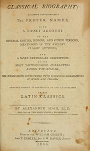 Classical biography by Adam, Alexander