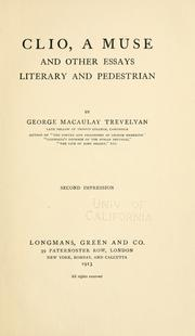 Cover of: Clio, a muse | George Macaulay Trevelyan