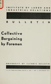 Cover of: Collective bargaining by foremen
