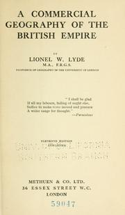 Cover of: A commercial geography of the British empire