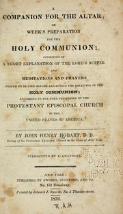 Cover of: A companion for the altar