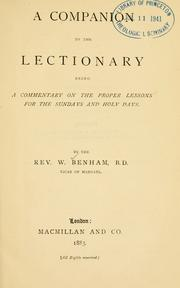 Cover of: A companion to the lectionary | William Benham