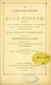 Cover of: A complete history of Lake George | Henry Marvin