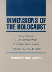 Cover of: Dimensions of the Holocaust