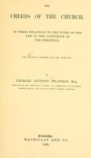 Cover of: The creeds of the church