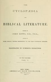 Cover of: A cyclopaedia of Biblical literature