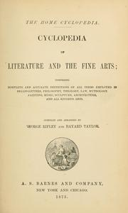 Cover of: Cyclopedia of literature and the fine arts