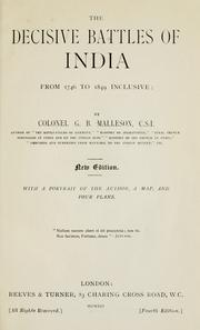 Cover of: The decisive battles of India | G. B. Malleson