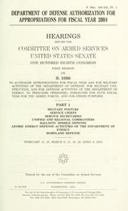 Department of Defense authorization for appropriations for fiscal year 2004
