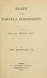 Cover of: Diary of the Parnell Commission