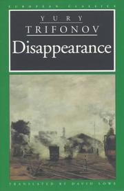 Cover of: The Disappearance (European Classics)