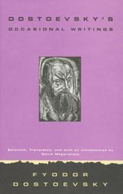 Cover of: Dostoevsky's occasional writings