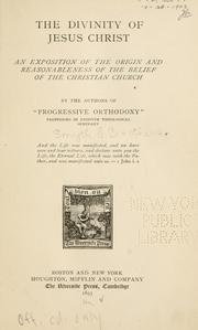Cover of: The divinity of Jesus Christ | Egbert Coffin Smyth