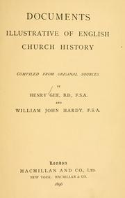 Cover of: Documents illustrative of English church history | Henry Gee