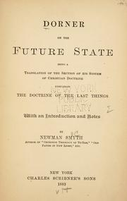 Cover of: Dorner on the future state