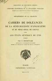 Cover of: Département de la Charente