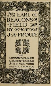 Cover of: The Earl of Beaconsfield
