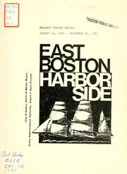 Cover of: East Boston piers 1-5 status report