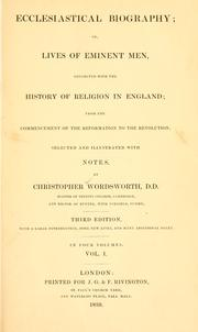 Cover of: Ecclesiastical biography | Wordsworth, Christopher