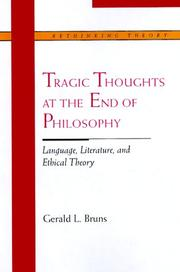 Cover of: Tragic Thoughts at the End of Philosophy