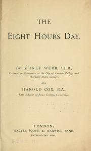 Cover of: The eight hours day