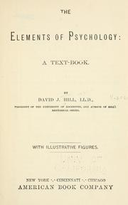 Cover of: The elements of psychology