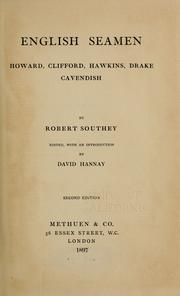 Cover of: English seamen | Robert Southey