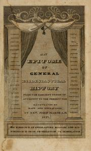 Cover of: An epitome of general ecclesiastical history