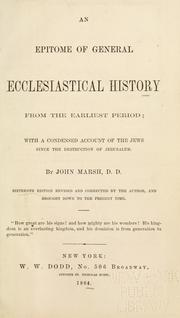 Cover of: An epitome of general ecclesiastical history from the earliest period