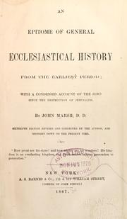 Cover of: An epitome of general ecclesiastical history from the earliest period to the present time