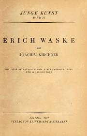 Cover of: Erich Waske