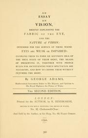Cover of: An essay on vision