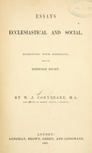 Cover of: Essays ecclesiastical and social