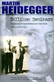 Cover of: Zollikon Seminars: Protocols - Conversations - Letters (SPEP)