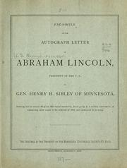 Cover of: Fac-simile of the autograph letter of Abraham Lincoln