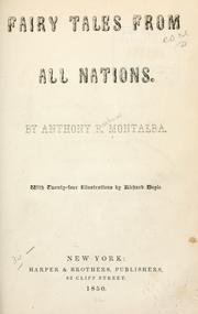 Cover of: Fairy tales from all nations