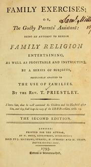 Cover of: Family exercises, or, The godly parents' assistant