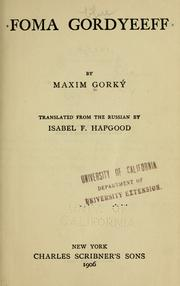 Cover of: Foma Gordeev
