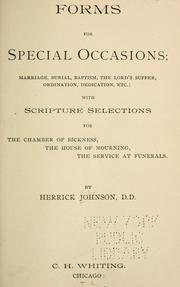 Cover of: Forms for special occasions