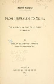 Cover of: From Jerusalem to Nicaea