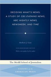 Deciding what's news by Gans, Herbert J.