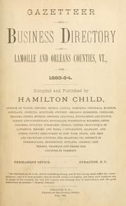 Cover of: Gazetteer and business directory of Lamoille and Orleans counties, Vt., for 1883-84 ..