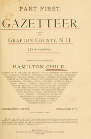 Cover of: Gazetteer of Grafton county, N. H. 1709-1886