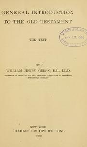 General introduction to the Old Testament by William Henry Green
