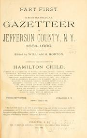 Cover of: Geographical gazetteer of Jefferson county, N.Y., 1685-1890